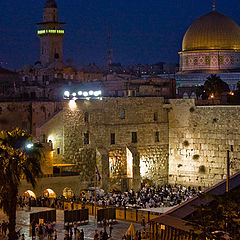 """фото """"Иерусалим. Стена плача в праздник Суккот."""""""