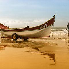 """photo """"Beach of fisherman"""""""
