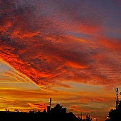 """photo """"Fire in the sky"""""""