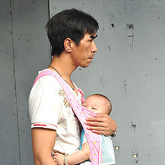 "фото ""Portrait-37-A man and his baby"""