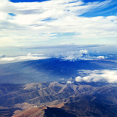 """photo """"Aragats mountain - view from above"""""""