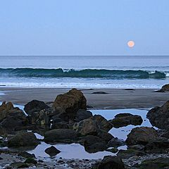 "photo ""The moon and the sea."""