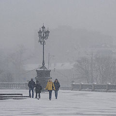 "photo ""blizzard in Moscow"""