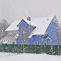 """фото """"Haus mit Schnee"""""""