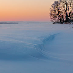 """фото """"Зимняя волна.Вечер на Волге."""""""