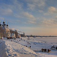 """фото """"Зимний вечер на Сухоне"""""""