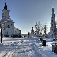 """photo """"монастырь,угреша,зима,храм,церковь,россия подмосковье"""""""