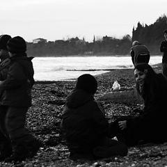 """фото """"отдых на зимнем море"""""""