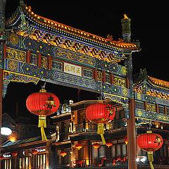 """фото """"Decorated archway-Front door Street-Beijing"""""""