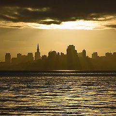 "фото ""Рассвет над Сан Франциско"""