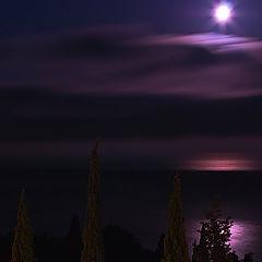 """фото """"Восход в полнолуние"""""""
