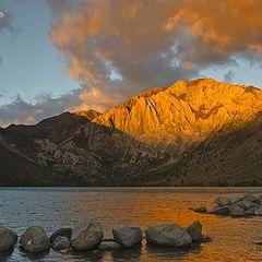 """photo """"Восход солнца на озере в горах"""""""