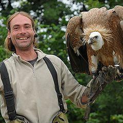 "photo ""Wim and his big bird"""