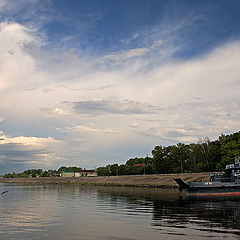 "photo ""Quay of Kozmodemjansk"""