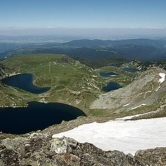 """photo """"The Seven Rila Lakes from the top"""""""