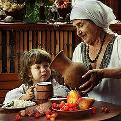 """фото """"у бабушки"""""""