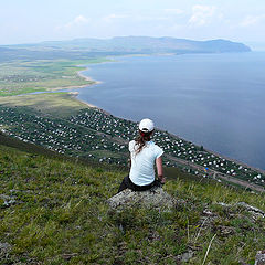 """photo """"on the mountain Kun-Tag : a view of the mountain Oglakhty"""""""
