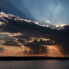 "photo ""evening at sea"""