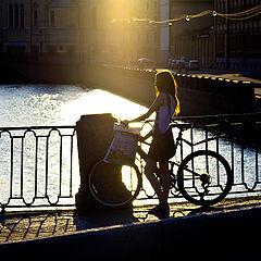 """фото """"девочка с велосипедом"""""""