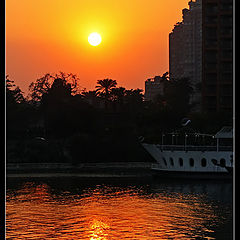 "фото ""Sunset on the Nile"""