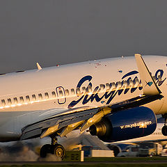"фото ""Посадка Boeing 737, аэропорт Внуково (Москва)"""