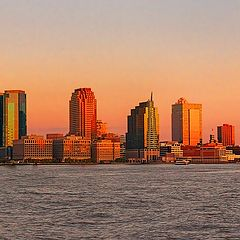 "фото ""Jersey City in the morning. View from lower Manhattan"""