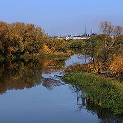 """фото """"Река в индустриальном городе"""""""