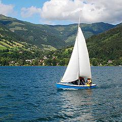 "photo ""sailing on the lake."""