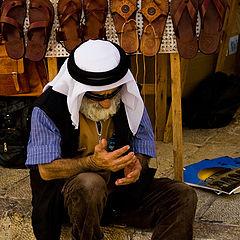 """фото """"Старый араб. Дорога к Стене Плача."""""""