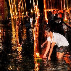 "фото ""Thai celebration Loy Kratong"""