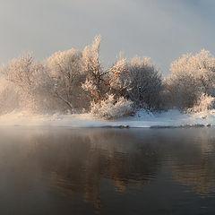 "фото ""Островок в морозном тумане"""