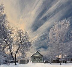 """фото """"Веер зимних облаков"""""""