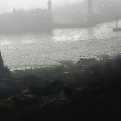 """фото """"Hamburg.Ein nebliger Morgen.(1)"""""""