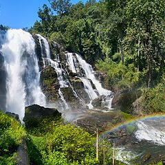"photo ""Rainbow at the Wachirathan waterfall"""