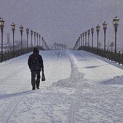 "photo ""Moscow snowfall"""