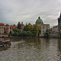 "photo ""Boat trips on the Vltava River."""