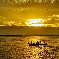 """photo """"Golden Mekong"""""""