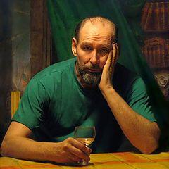 """фото """"Автопортрет с бокалом вина"""""""