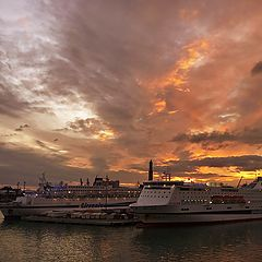 """фото """"Port of Genoa - Italy"""""""