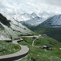 """photo """"Alps.Photo through the buswindow."""""""