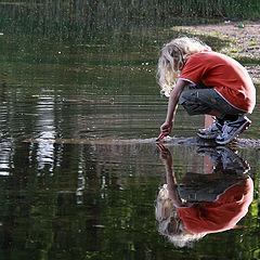 """фото """"Мальчик на озере"""""""
