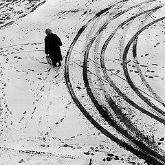 """фото """"Следы на снегу. Брянск. 1978г."""""""