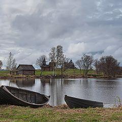 """фото """"пейзаж с лодками"""""""