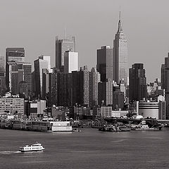 "фото ""The view on Manhattan from New Jersey,"""