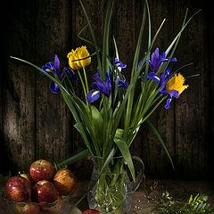 "photo ""Still life with irises"""