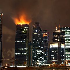 """photo """"A candle or """"New Lights of Moscow"""""""""""