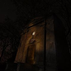 """photo """"mysterious tomb at midnight"""""""