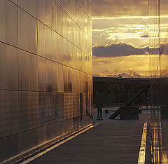 "фото ""Sunset over 9/11 memorial at Liberty state park, New Jersey"""
