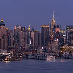 "фото ""Manhattan at twilight: a panoramic view from Weehawken"""