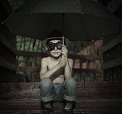 "фото ""Чудик и зонт"""